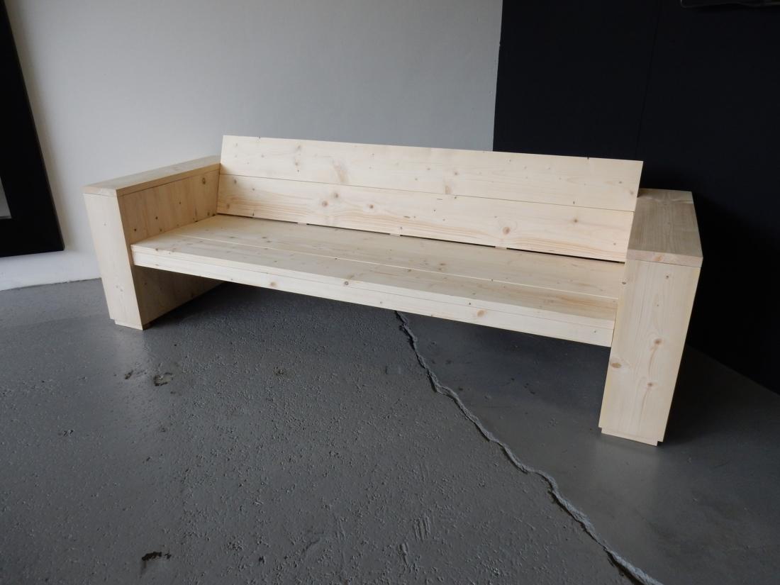steigerhouten loungebank recht vivencia vuur. Black Bedroom Furniture Sets. Home Design Ideas