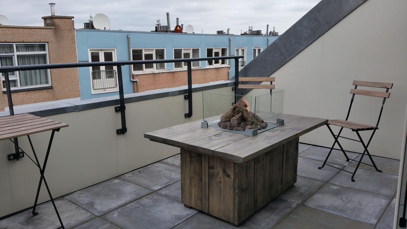 Steigerhouten Vuurtafel luxe appartement_resize