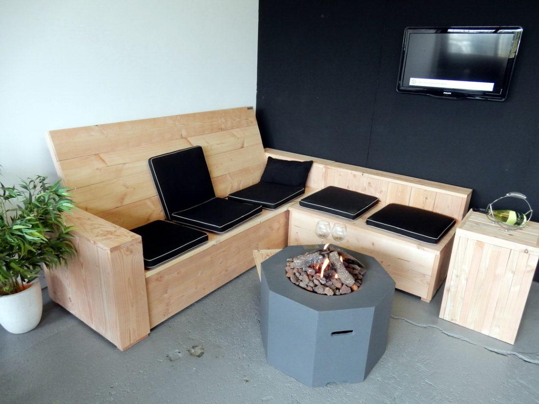 Loungeset van Douglas hout
