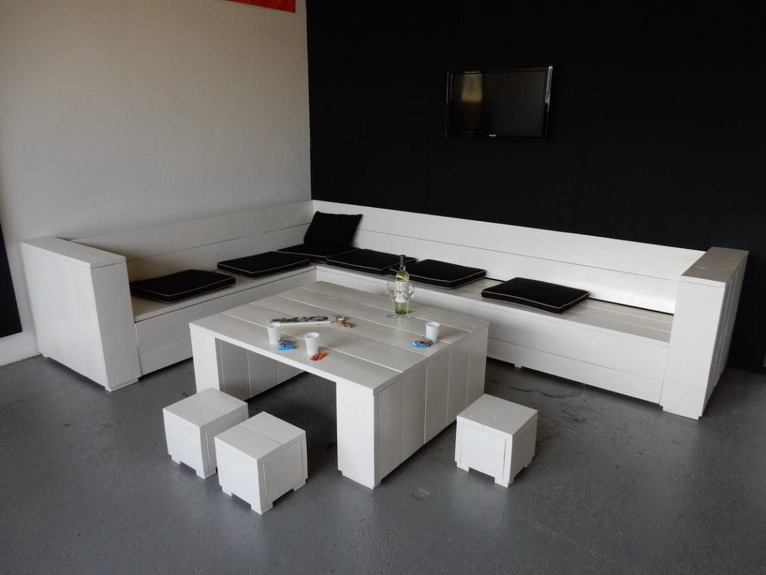 Steigerhouten Loungebank