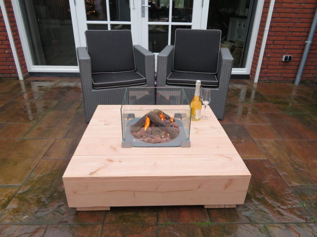Tafel Met Haard : Douglas houten loungetafel abeki vivencia vuur