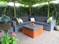Design loungetafel met gashaard